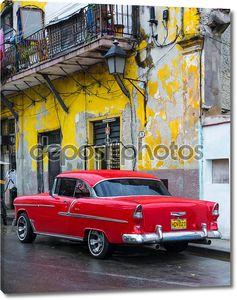Винтаж американский автомобиль в Гаване
