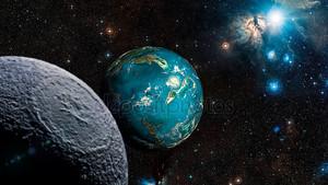 Чужеродные Планета Exo. Элементы этого изображения, представленной НАСА