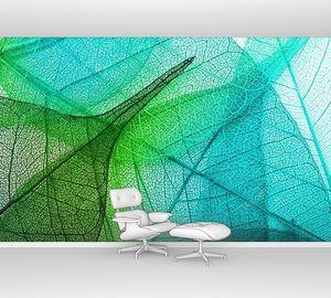 Фон с зелеными листьями