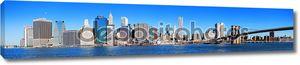 Панорама горизонта Нью-Йорка Манхэттен
