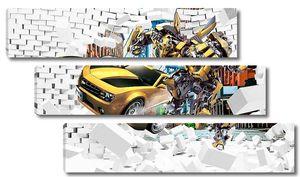 Трансформеры в проломе стены