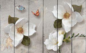 Цветки на фоне письменного послания