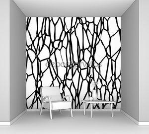 Векторная абстрактные черно-белые сложной мозаичной картины