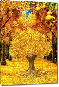 Яркая абстракция на тему осени