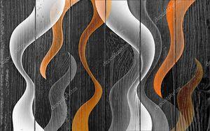 Абстрактная волнистая иллюстрация на темном фоне.