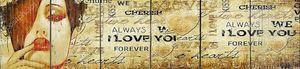 Надпись я тебя люблю на винтажном фоне