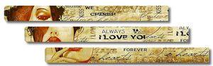 """Надпись """" я тебя люблю"""" на винтажном  фоне"""