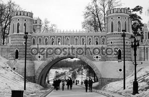 вид на мост. tsaritsyno паркуются в Москве
