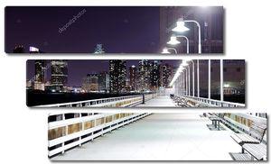 Ночь мост с фонарями