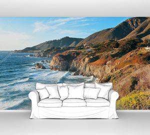 Морской пейзаж Биг-Сюр в Калифорнии