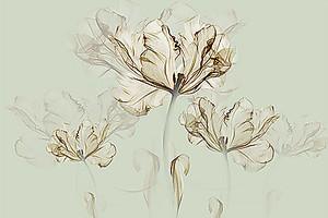 Эскиз раскрывающегося цветка