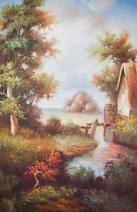 Живописное место с рекой