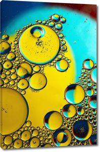Желтые с бирюзовым пузыри