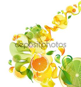 Абстрактные апельсин и лайм