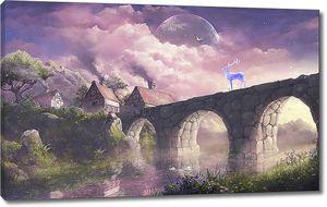 Луна над каменным мостом