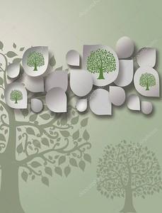 Контуры сказочных деревьев
