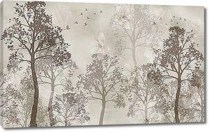 Туманный утренний лес