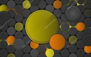 Круги различных размеров серого, зеленого и оранжевого цветов