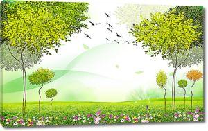 Зеленая поляна
