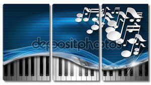 Музыка синий и металла визитная карточка
