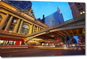 Нью-йоркский горизонт и Манхэттен