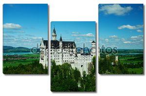 Нойшванштайн замок, Бавария, Германия - весенний пейзаж