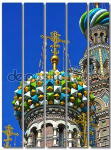 Купола православной церкви Спаса на крови