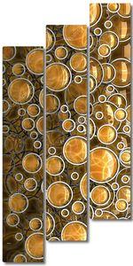 Абстрактный фон 3D для презентации компании orange