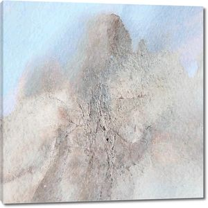 абстрактная акварель горный пейзаж