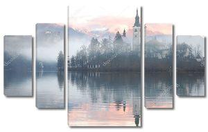 Туманный вечер отражение
