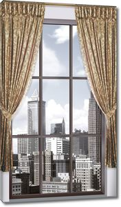 Современный город из окна