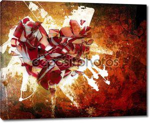 Искусство абстрактные орнамент разбитое сердце