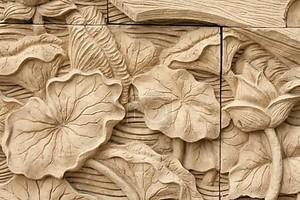 Оформленный цветком резьба