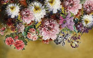 Пестрая композиция из цветов