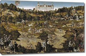 Лукас Кранах (Старший). Оленья охота в честь Карла V близ замка в Торгау