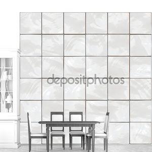 Блестящая белая плитка бесшовных текстур