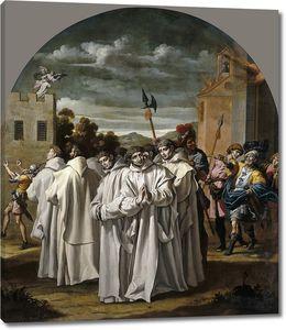 Кардучо Висенте. Пожар в монастыре в Праге и преследования картезианских монахов