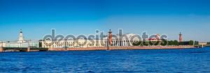 Spit of Vasilievsky Island in summer day