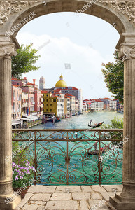 Вид на Венецию сквозь арку