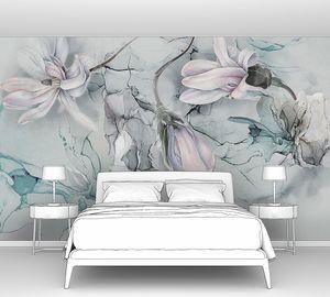 Цветы и флюид арт