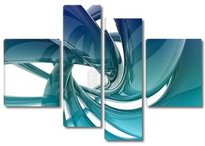 3-я форма спирали синий блеск