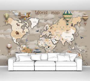 Карта мира с воздушными шарами