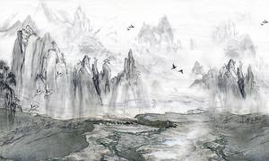 Скалы. Рисунок