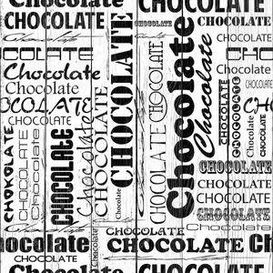 Бесшовные шоколада с словом шоколада