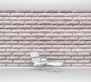 Текстура светло-белой кирпичной стены