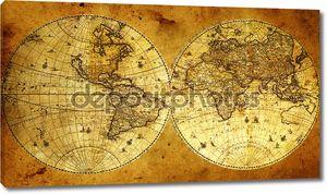 старая бумага карта мира.