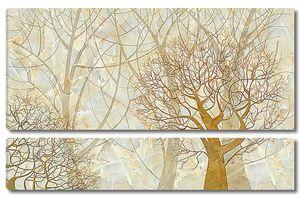 Деревья на мраморе
