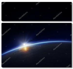 Планета Земля с восходящего солнца