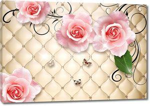 Розы на фоне кожи