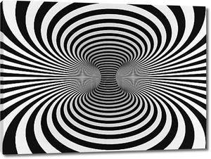 черно-белые полосы проекции на тор
